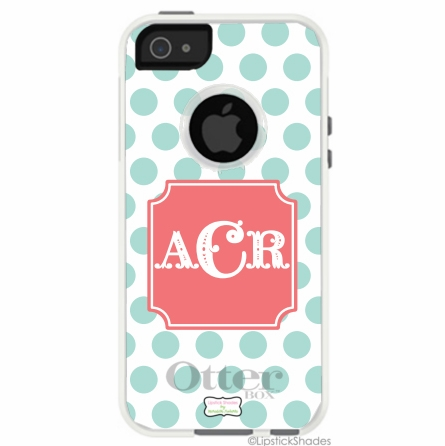 Personalized Otterbox iPhone Case in Polka Polka