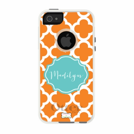 Personalized Otterbox iPhone Case in Quatrefoil
