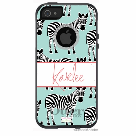 Personalized Otterbox iPhone Case in Zazzy Zebras