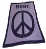 Personalized Peace Sign Stroller Blanket