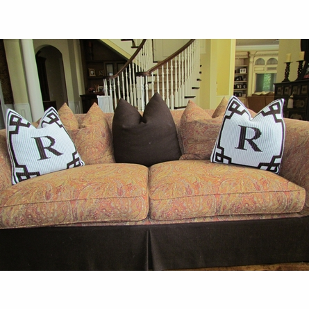 Personalized Initial Pillow with Scroll