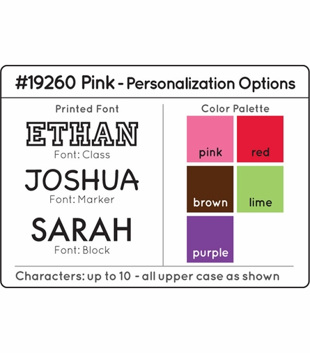 Personalized Pink Clothes Pole
