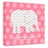 Personalized Pink Elephant Canvas Reproduction