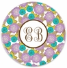 Personalized Plate - Two Initials Circle
