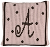 Personalized Polka Dot Initial Pillow