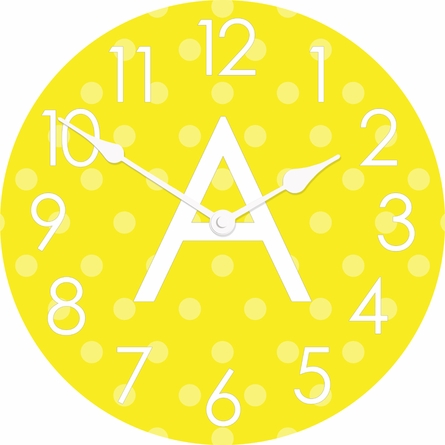 Personalized Polka Dots Wall Clock