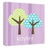 Personalized Purple Tree Canvas Reproduction