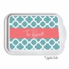 Personalized Quatrefoil Casserole Serving Dish