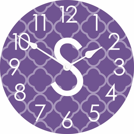 Personalized Quatrefoil Wall Clock
