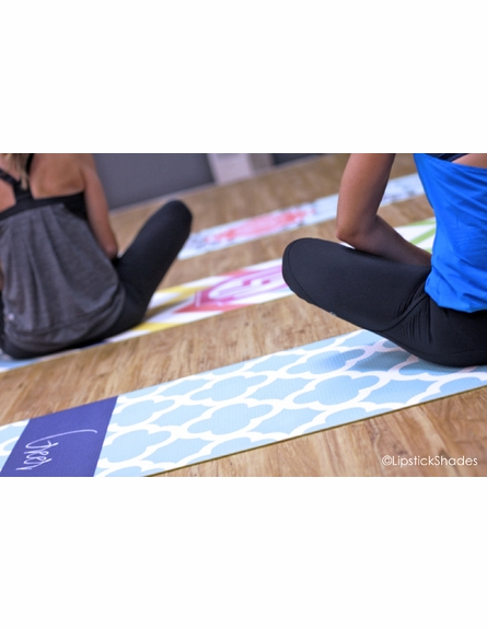 Personalized Quatrefoil Yoga Mat