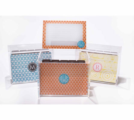 Personalized Recipe Box and Cards in Multiple Designs