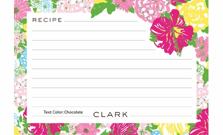 Personalized Recipe Box in Heritage Floral