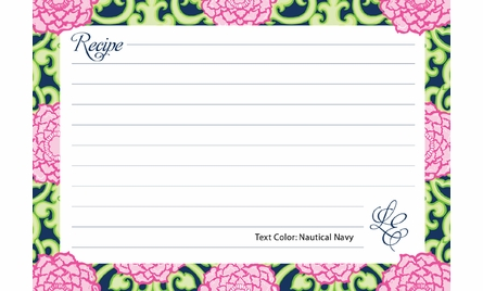 Lilly Pulitzer Personalized Recipe Box in Private Property