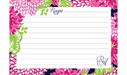 Lilly Pulitzer Personalized Recipe Box in White Zin