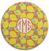 Personalized Round Cutting Board - Monogram Circle