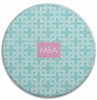 Personalized Round Cutting Board - Monogram Square