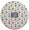 Personalized Round Cutting Board - Two Initials Square