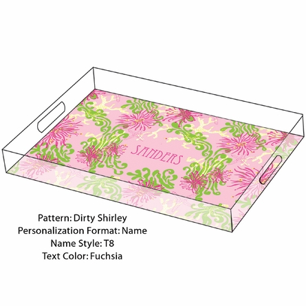 Personalized Serving Tray in Dirty Shirley - Large