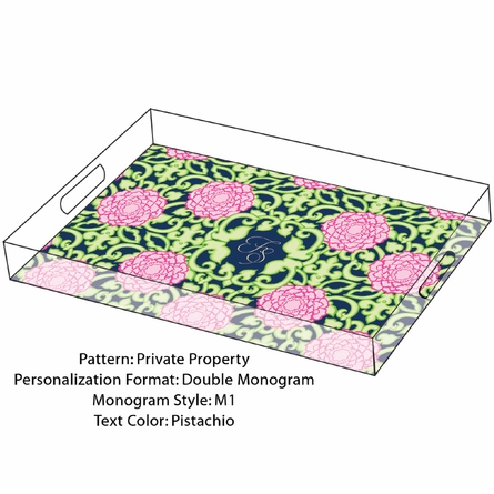 Lilly Pulitzer Personalized Serving Tray in Private Property - Large