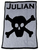 Personalized Skull and Crossbones Blanket