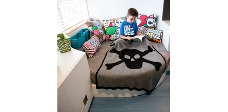 Personalized Skull and Crossbones Name Blanket