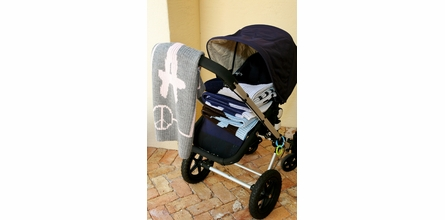 Personalized Skull and Crossbones Stroller Blanket