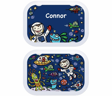 Personalized Space Lunch Box - Green