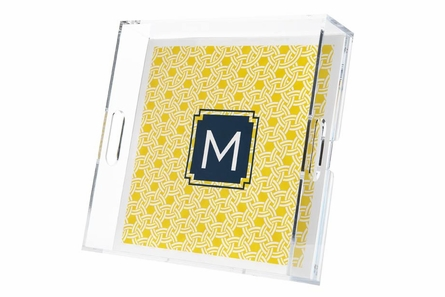 Personalized Square Lucite Tray in Multiple Designs