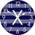 Personalized Stripes Wall Clock