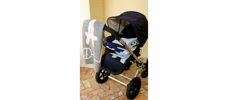 Personalized Name Stroller Blanket with Paper Dolls