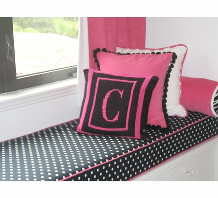 Personalized Thin Frame Initial Pillow
