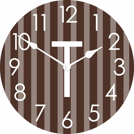 Personalized Vertical Ticking Stripes Wall Clock
