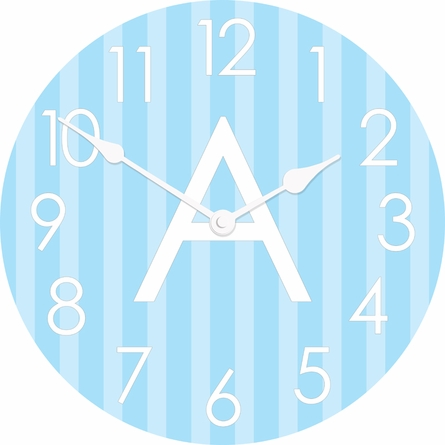 Personalized Ticking Stripes Wall Clock