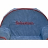 Personalized Toddler Chair - Blue Microsuede