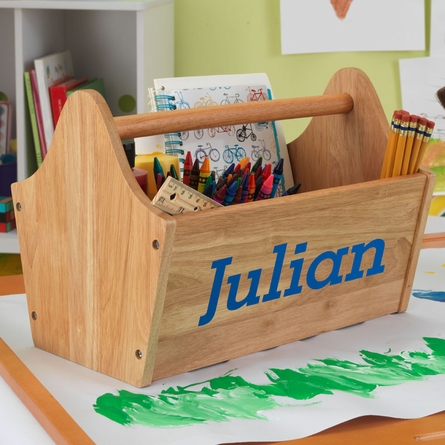 Personalized Toy Caddy - Natural