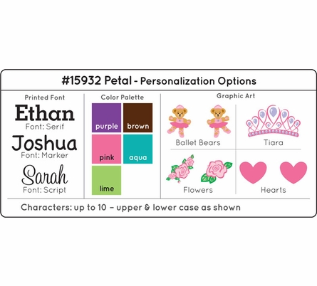 Personalized Toy Caddy - Petal