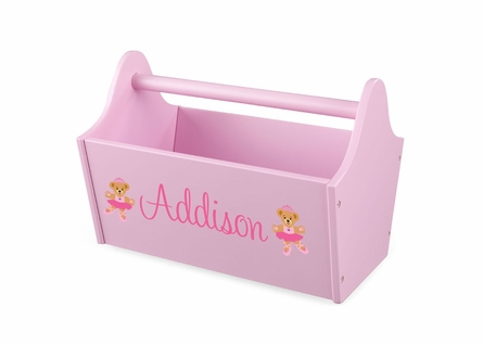Personalized Toy Caddy - Pink