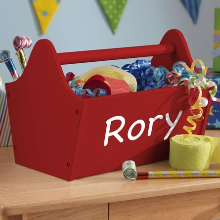 Personalized Toy Caddy - Red
