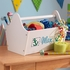 Personalized Toy Caddy - White