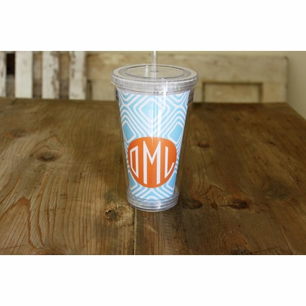 Personalized Tumbler Cup - Monogram Circle