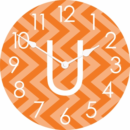 Personalized Vertical Chevron Wall Clock