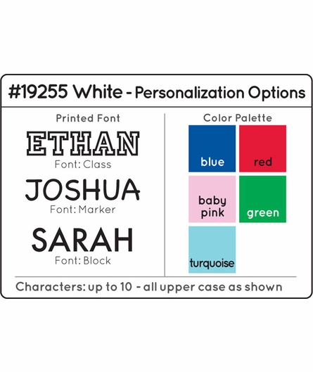 Personalized White Clothes Pole