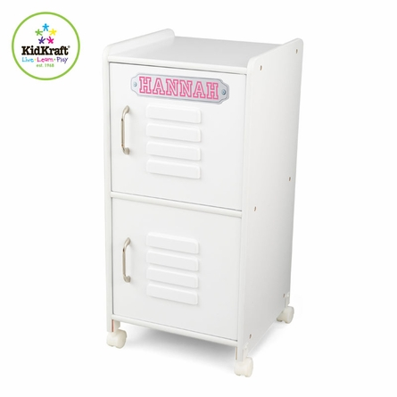 Personalized White Medium Locker
