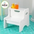 Personalized White Two Step Stool