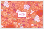Personalized Wipe-Clean Placemat - Monogram Square