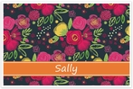 Personalized Wipe-Clean Placemat - Name Band