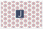 Personalized Wipe-Clean Placemat - Single Initial Square