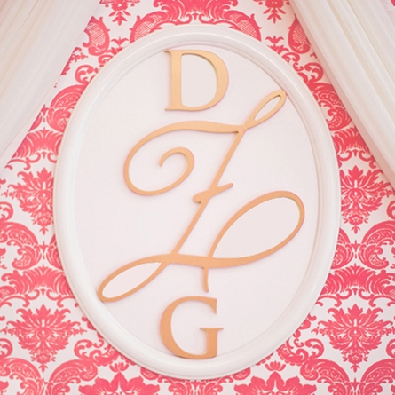 Personalized Wooden Gold Wall Monogram