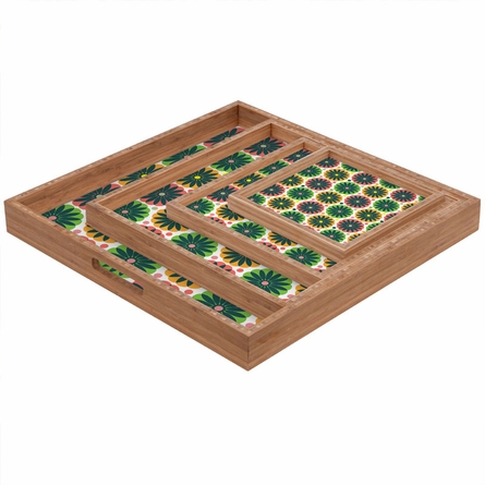 Petal Fair Garden Square Tray