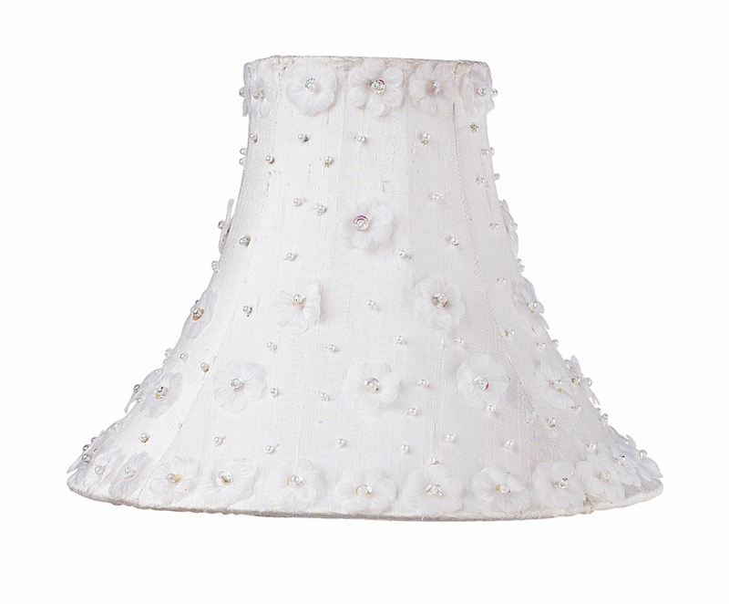 petal flower medium lamp shade in white by jubilee collection. Black Bedroom Furniture Sets. Home Design Ideas